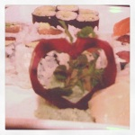 Our garnish two weekends ago.  A beet heart.  So pretty! (and i ate some of it.  lol)