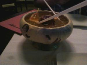 Lots of scorpion bowls..