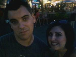 My husband and I..doing my photo op thing