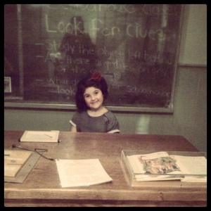 My youngest being silly at the Museum