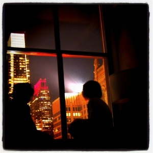 Looking out the window at Phili