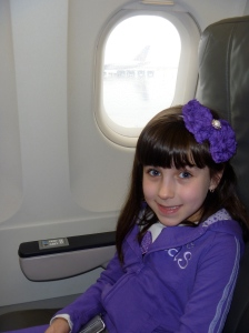 My oldest on the airplane!