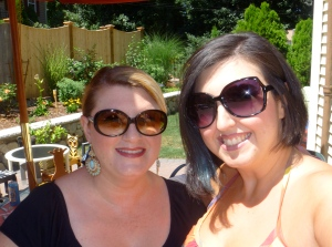 Me with my oldest sister home from Italy