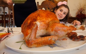 My daughter.. the turkey