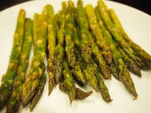 Finished side dish! Roasted asparagus