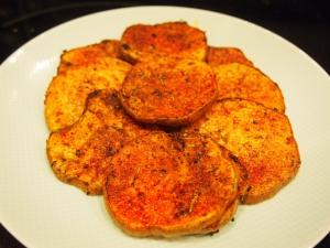 Voila!  Baked Sweet Potatoes!