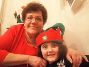 My mother in law with my youngest elf
