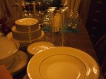 all the dishes and glasswares were washed and ready to go!
