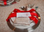 place setting.. place cards made by my oldest.