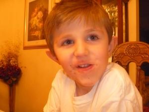 My nephew, the chocolate monster