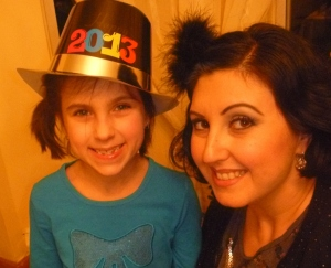 I started to feel ill New Year's eve, so good photos I didnt take.. My daughter is adorable tho!