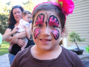 My niece face painted