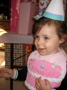 The birthday girl so happy.