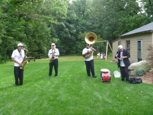 My husband surprised the whole party with a New Orleans style band.  Very cool!