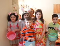 Our Annual Easter Egg Hunt!  Ready to hunt some eggs