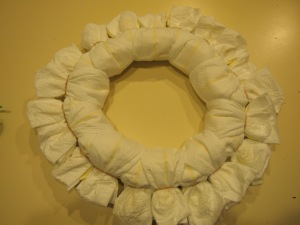 Diaper Wreath- What you'll need