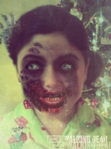 My youngest..zombified!
