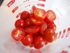 halved cherry tomatoes