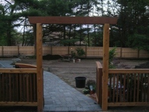 The fence my husband designed, the had someone create.  A lot of work!!