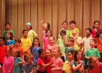 My oldest's first school concert!  So sweet!