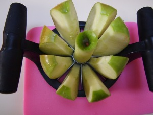 Core and slice the apples.