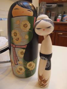 The Kokeshi dolls my husband bought me in Japan. I love these girls! And MY GIRLS!