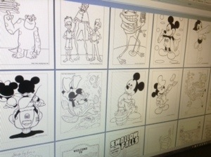 A screen shot of the coloring pages prior to formatting.