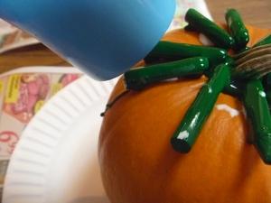 A shot of my big girl's green pumpkin!