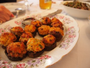 Some stuffed mushrooms..