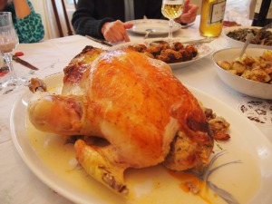 A shot of the turkey, this was so last minute!  Sorry for the angle!!!!!!!!!!!!1