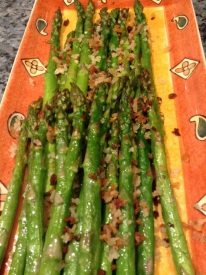 Roasted Asparagus with Tangerine Panko Crumb