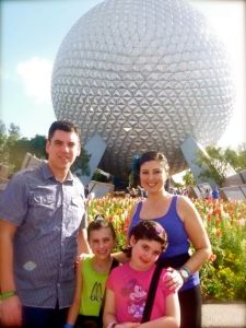 My family on our first day at EPCOT.