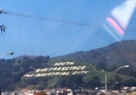 When we landed this SFO sign was on the hills. Idk why, but I liked to see it.