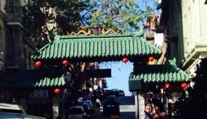 A few steps outside the hotel was the gate to Chinatown.