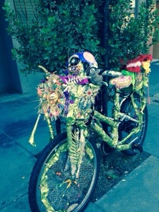 A decorated bike I saw on the way to the Exploratorium
