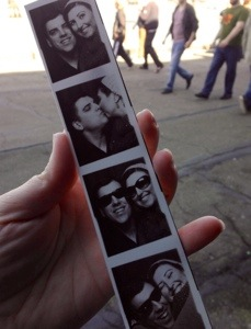 my favorite souvenir though. we used to photobooth all the time so this brought back so many great memories. :)