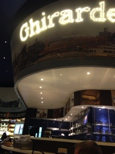 We were craving ice cream big time, and hit up the Ghirardelli nearby.