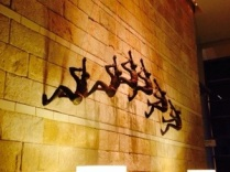 A sculpture inside the Hyatt