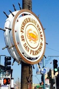 Fisherman's Wharf San Francisco sign.
