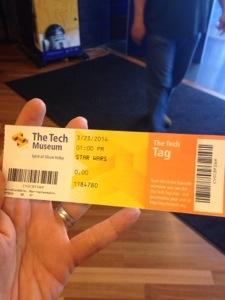 My last ticket.