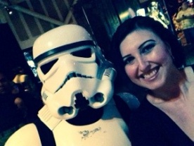 I stopped a stormtrooper for this photo opp. He was so nice.