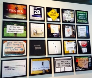 A wall of sarcastic signs inside the museum that made me laugh.