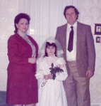 My big communion day.  Stop yer laughin'!