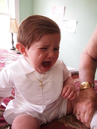 Until he cries.. nah I am kidding, he is still adorbs!