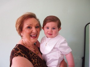 Nonna with her youngest grandson