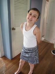 Baptism Silver skirt