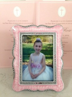 Inside was this framed photo of our daughter.