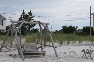 A weathered swing