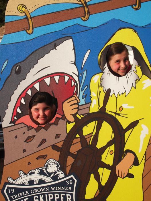 Ahhh Captain there's a shark!