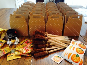 Making goody bags!